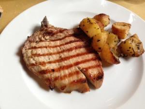 Bistecchina con patate - Trattoria 4 Leoni Firenze