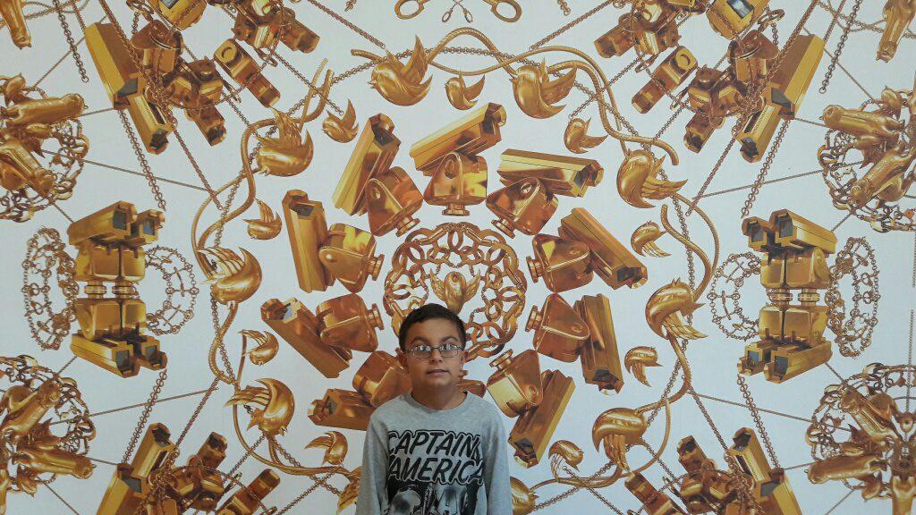 Franci alla mostra di Ai Weiwei a Firenze