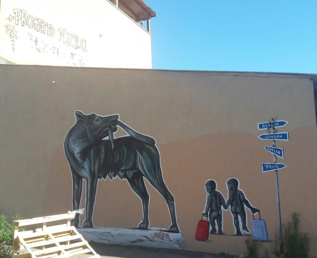 Roma murale di Maupal Lupa al Quadraro
