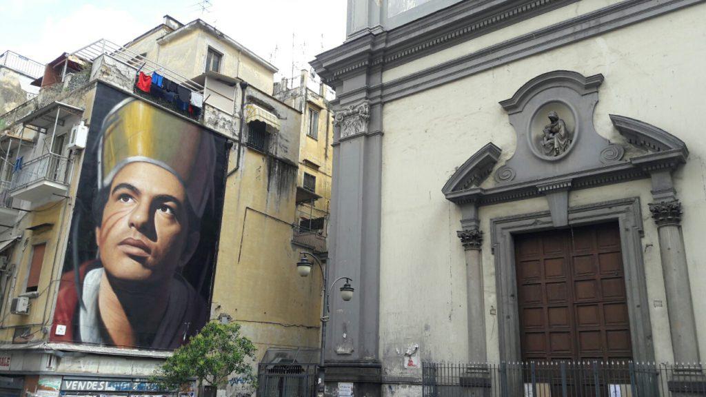 Murale di San Gennaro di Jorit Agoch a Napoli