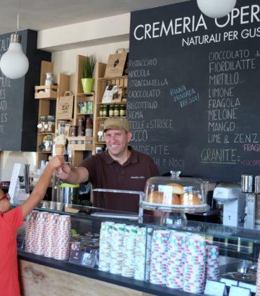 Il gelato artigianale della Cremeria Opera di Lucca
