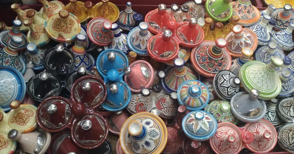 Marrakesh Marocco tajine nella medina