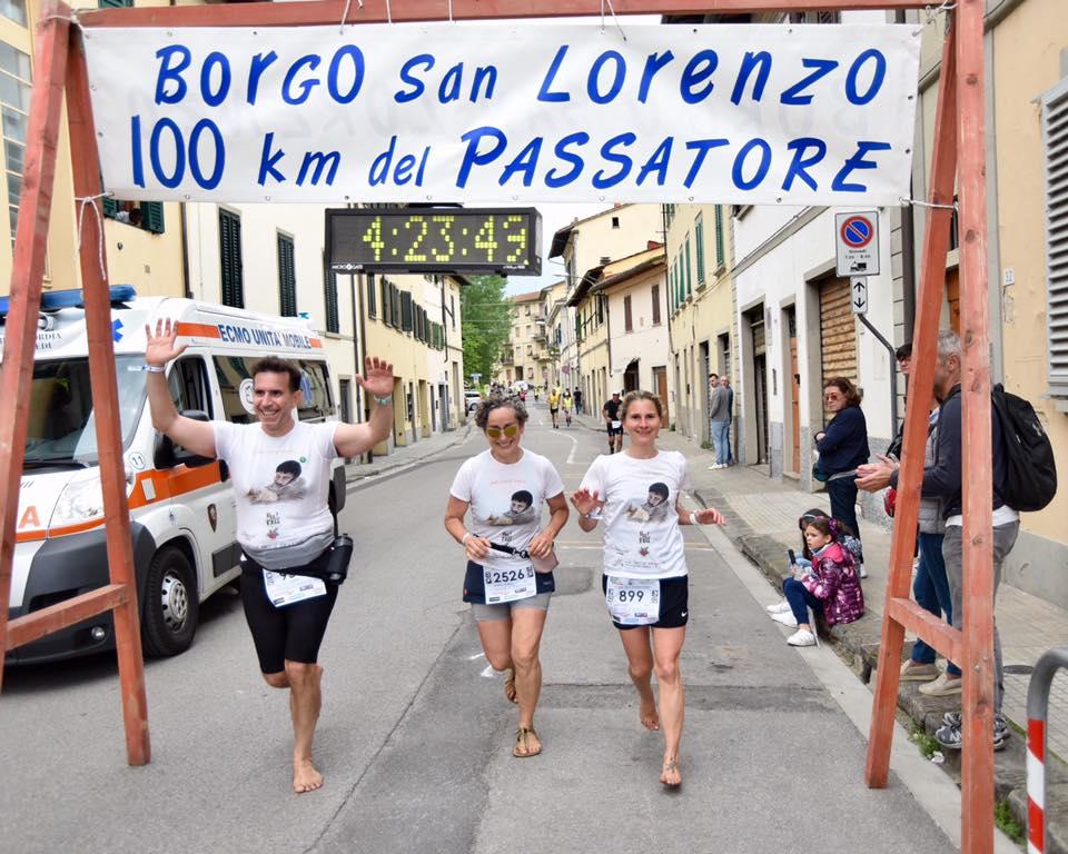 Passatore 100km Sara Enge barefoot runner