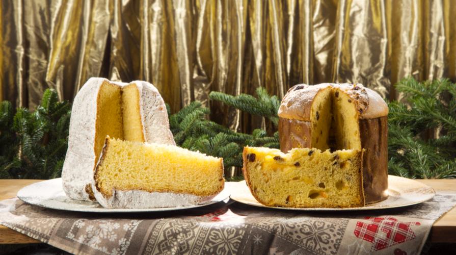 Pandoro e panettone dolci natalizi
