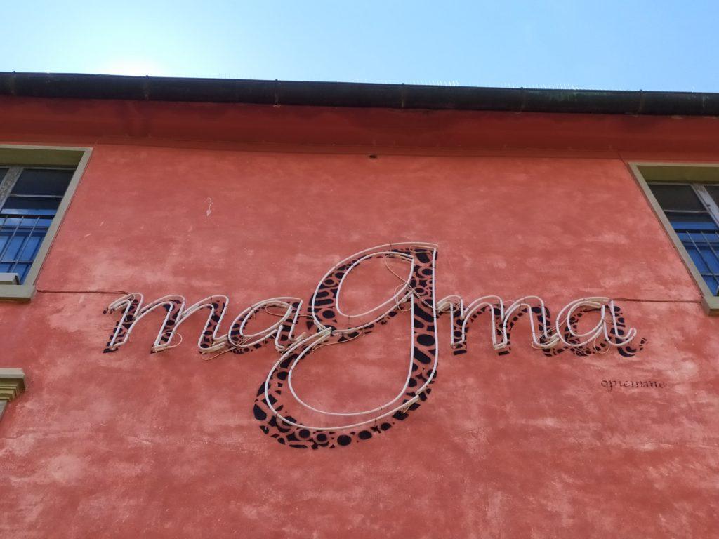 Streetart Follonica lettering Opiemme MAGMA