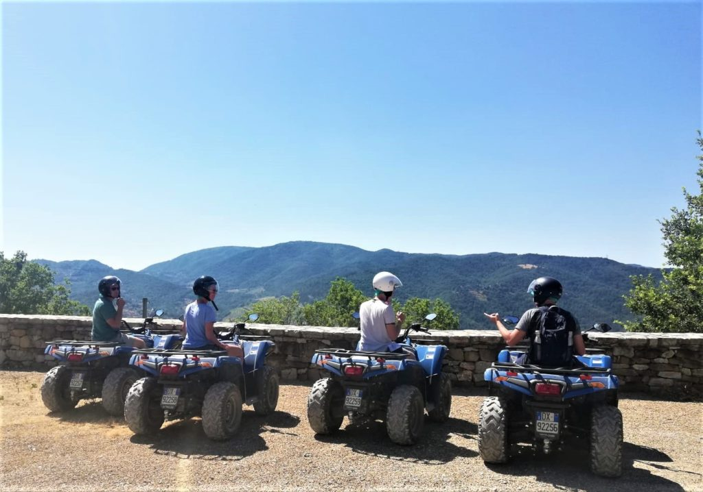 Happy in Tuscany tour in quad