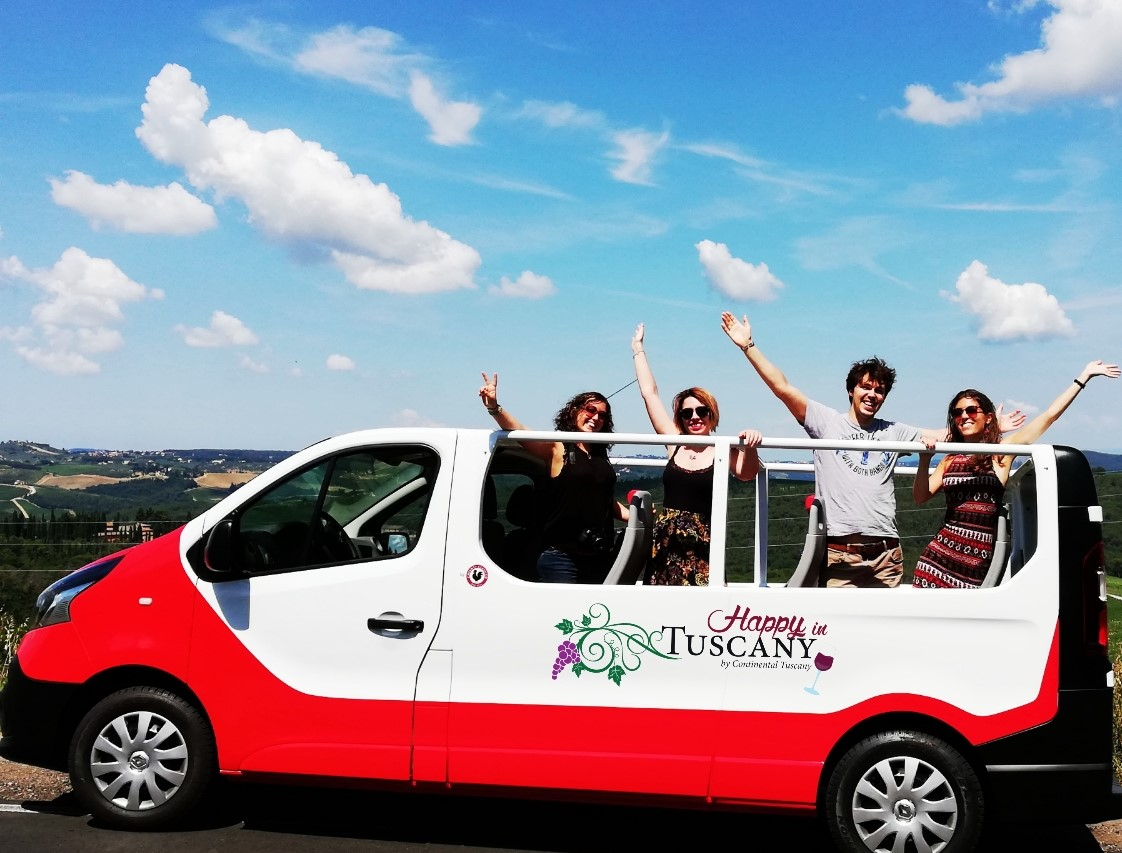 Mini van aperto Happy in Tuscany