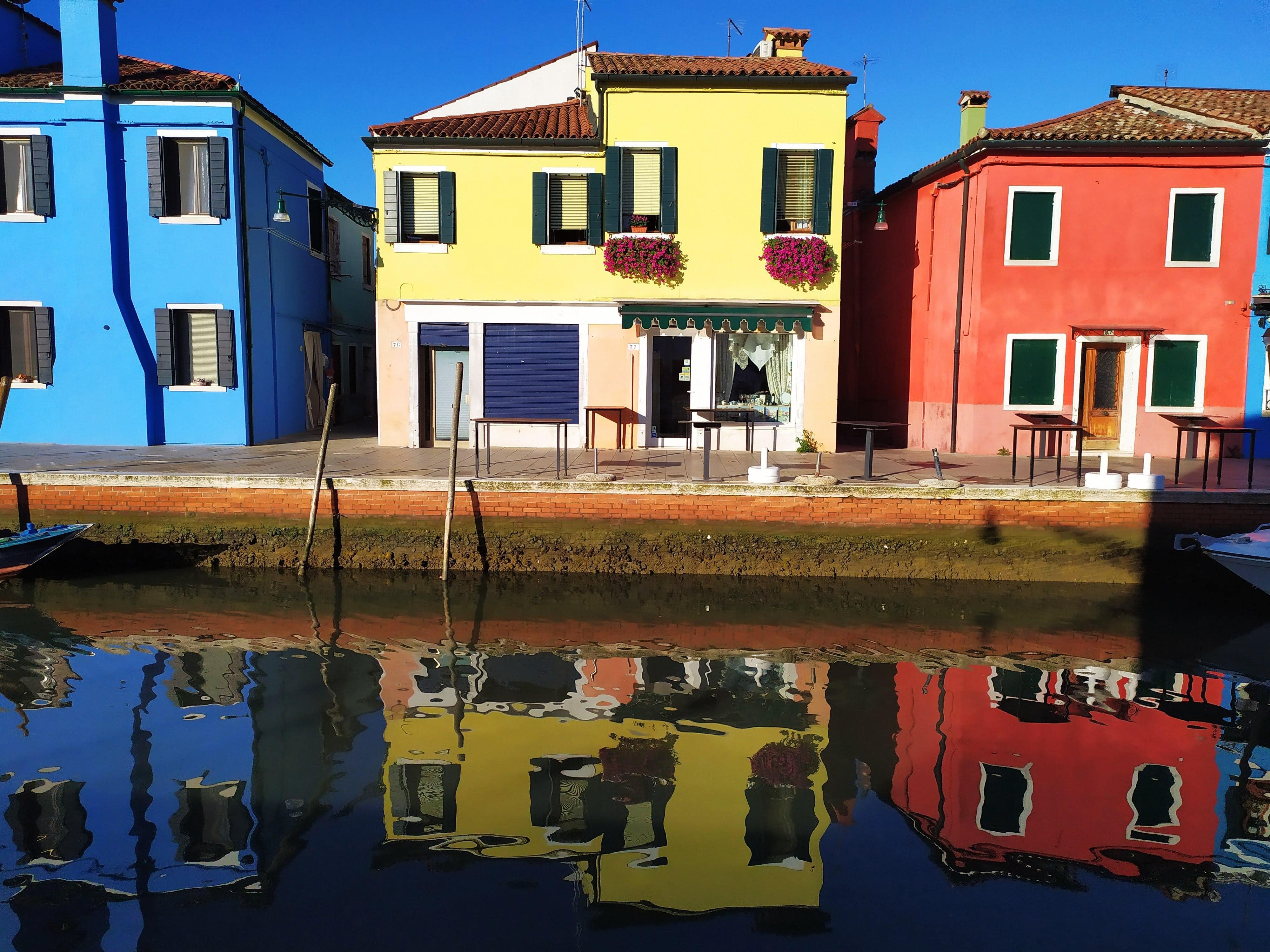 Venezia Burano casette colorate