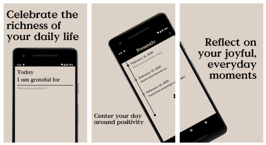 Presently l'app